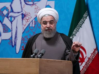 PHOTO: In this photo released by official website of the office of the Iranian Presidency, President Hassan Rouhani speaks at a ceremony marking Student Day at Tehran University, in Tehran, Iran, Dec. 6, 2016.