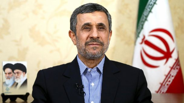 PHOTO: Former Iranian President Mahmoud Ahmadinejad gives an interview to The Associated Press at his office in Tehran, Iran, April 15, 2017.