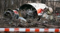 PHOTO: This Sunday April 11, 2010, file photo shows the wreckage of the Polish presidential plane which crashed early Saturday in Smolensk, western Russia.