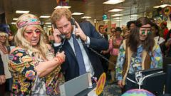 PHOTO: Prince Harry Mans the Phones for Charity