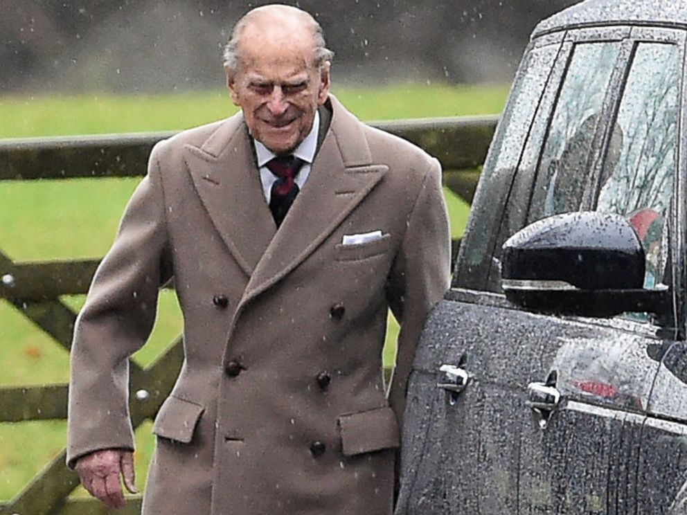 PHOTO: Britains Prince Philip leaves St Mary Magdalene Church on the royal estate in Sandringham, eastern England, after attending a New Years Day church service, Jan. 1, 2017.