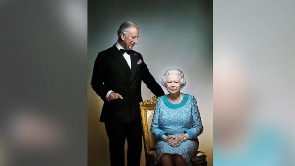 PHOTO: This photograph taken by Nick Knight is a portrait of Britain's Queen Elizabeth II and Prince Charles, taken in the White Drawing Room at Windsor Castle, England in May 2016.