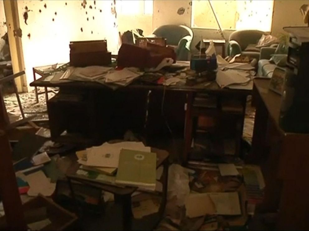 PHOTO: Devastation in visible in an office following a school attack in Peshawar, Pakistan, in an image taken Dec. 17, 2014.