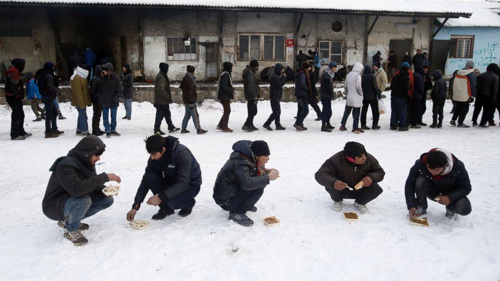 Migrants in Belgrade Endure Week in Nasty Weather