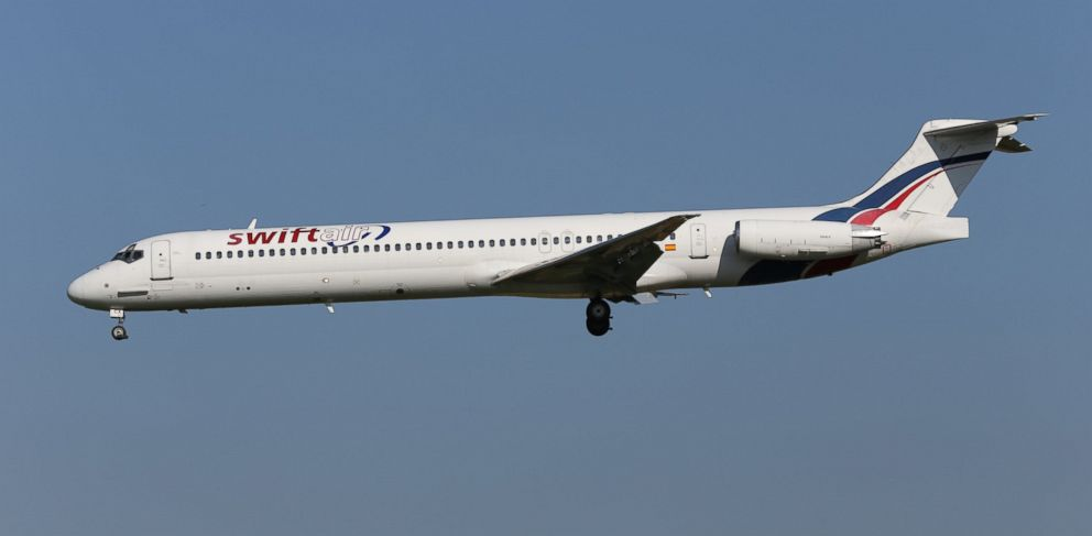 PHOTO: A MD-83 plane, the same model as seen in this file photo, disappeared from radar following takeoff in Ouagadougou, Burkina Faso, July 24, 2014.