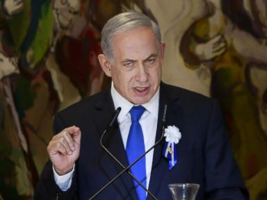 PHOTO: Israels Prime Minister Benjamin Netanyahu delivers a speech during an event following the first session of the newly-elected Knesset in Jerusalem, March 31, 2015.