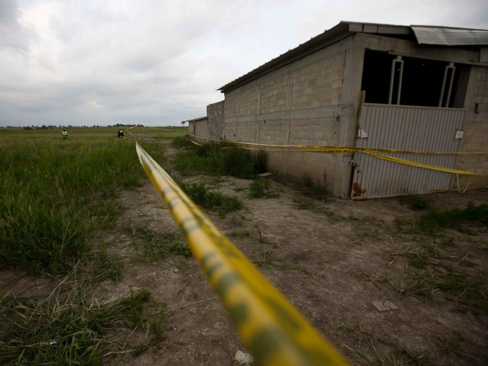 PHOTO: Yellow police tape surrounds the construction site authorities say was used by drug lord Joaquin El Chapo Guzman to break out of the Altiplano maximum security prison, in Almoloya, west of Mexico City, July 14, 2015.
