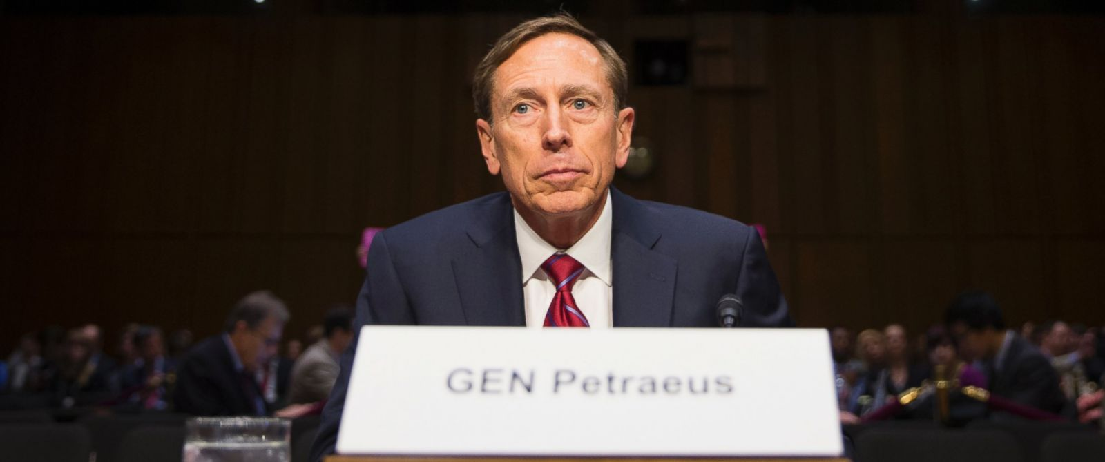 PHOTO: Former CIA Director David Petraeus prepares to testify on Capitol Hill in Washington, Sept. 22, 2015, before the Senate Armed Services Committee hearing on Middle East policy.