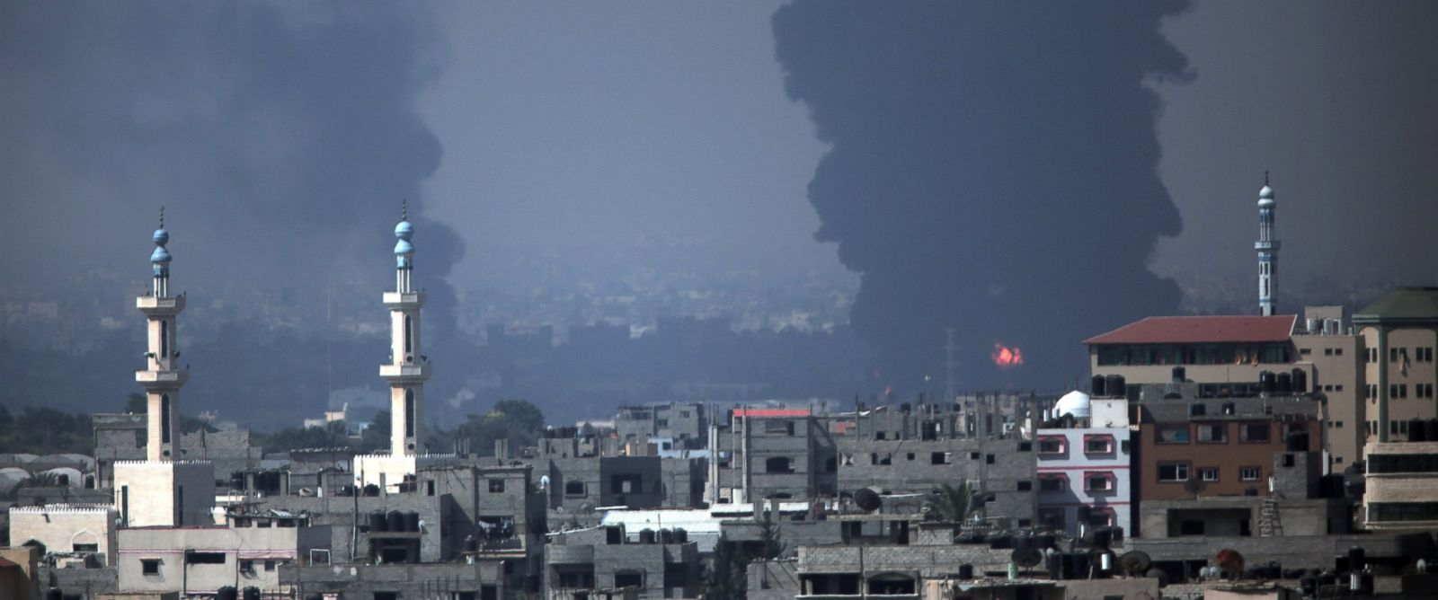PHOTO: Smoke rises from Gazas power plant after it was hit by Israeli strikes in the Nusayrat refugee camp, central Gaza Strip, July 29, 2014.