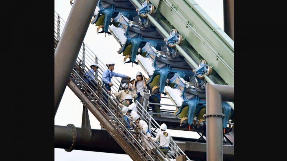 Roller coaster stalls, leaving dozens hanging midair