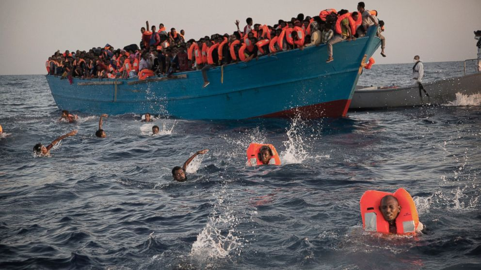 6500 migrants rescued from sinking boats off Libyan coast