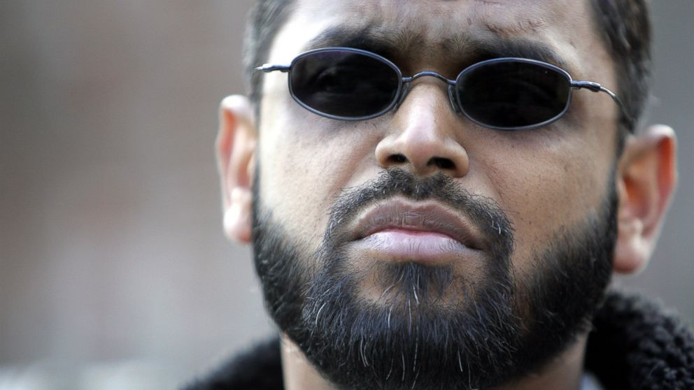 PHOTO: Moazzam Begg stands outside the U.S. Embassy in London, March 3, 2006.