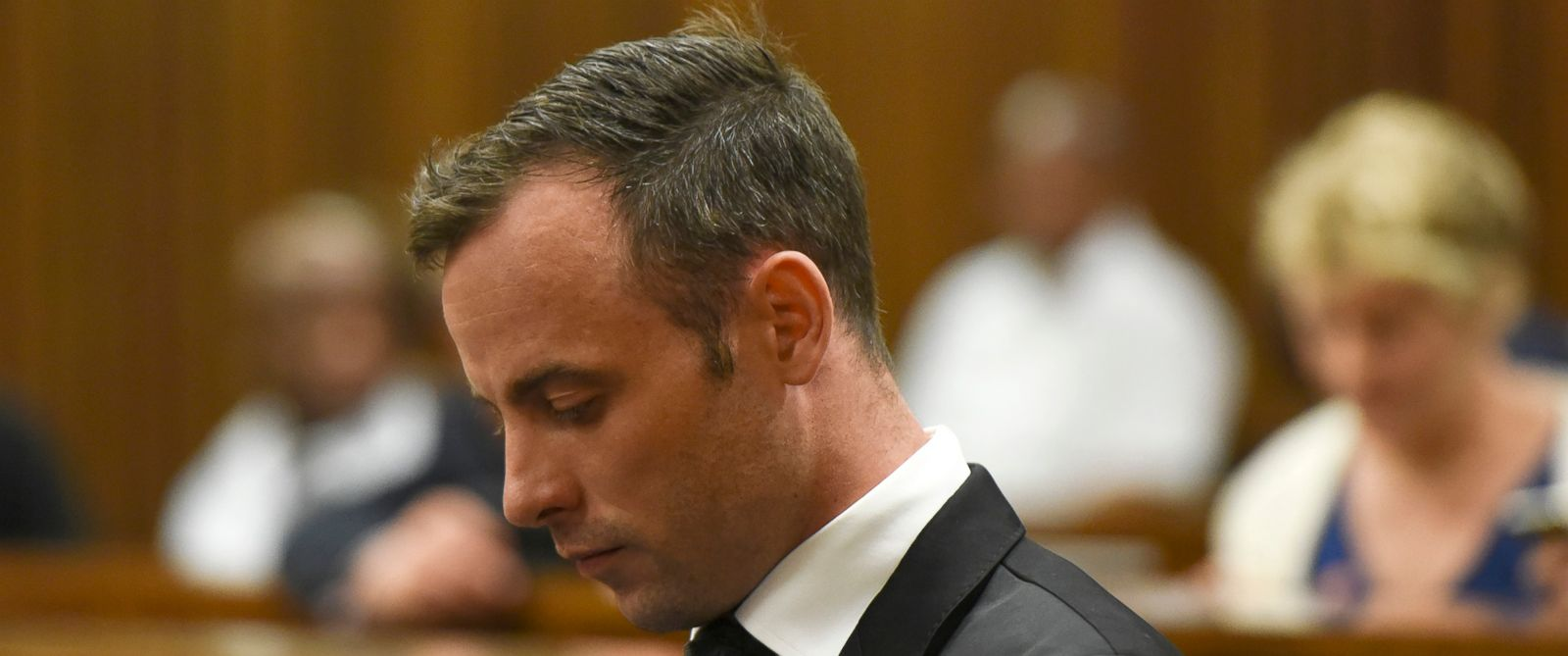 Oscar Pistorius appears in court in South Africa Dec. 8, 2015.