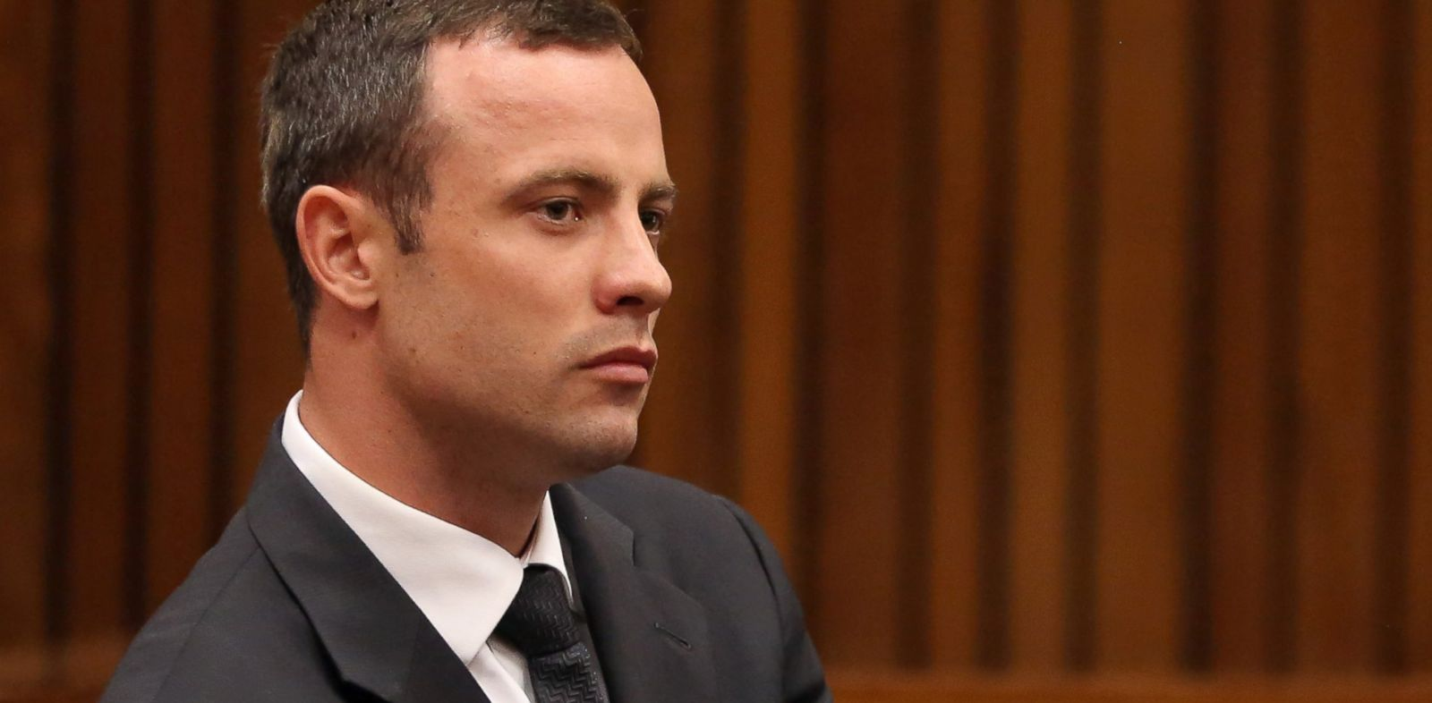 PHOTO: Oscar Pistorius sits in the dock during his trial at the high court in Pretoria, South Africa, March 7, 2014.