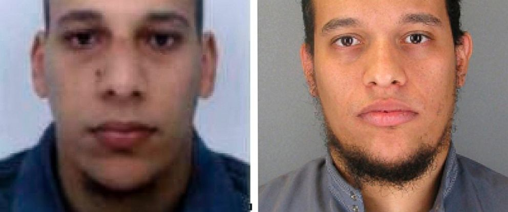 PHOTO: This photo provided by The Paris Police Prefecture, Jan.8, 2015 shows the suspects Cherif, left, and Said Kouachi suspected in a massacre in Paris.