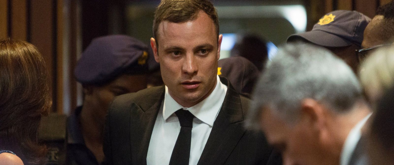 PHOTO: Oscar Pistorius arrives in court Monday, Oct. 13, 2014 to face sentencing for the shooting death of his girlfriend Reeva Steenkamp.