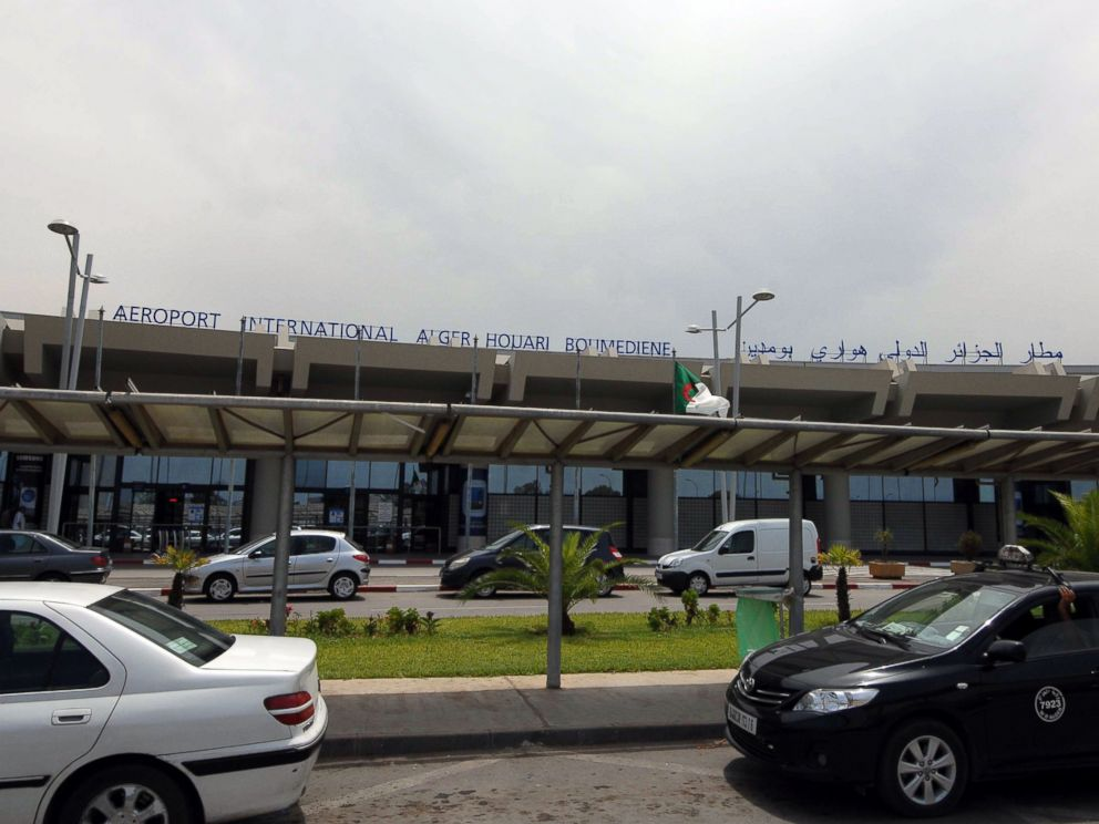 PHOTO: Vehicles are parked outside the Houari Boumedienne international airport near Algiers, Algeria, July 24, 2014.