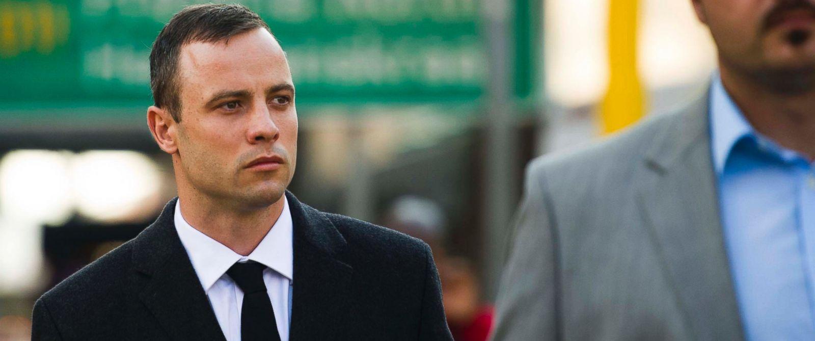 PHOTO: Oscar Pistorius arrives at court in Pretoria, South Africa, Monday, April 7, 2014.