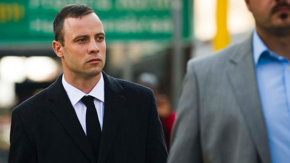 PHOTO: Oscar Pistorius arrives at court in Pretoria, South Africa, Monday, April 7, 2014.