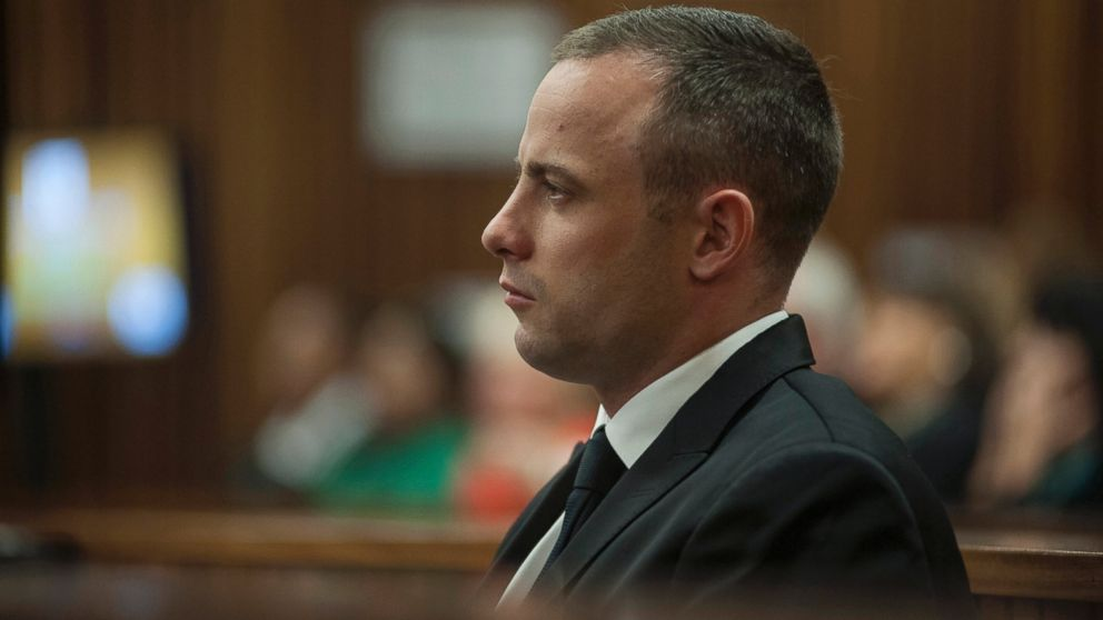 PHOTO: Oscar Pistorius looks straight ahead inside a courtroom at the high court in Pretoria, South Africa, May 5, 2014.