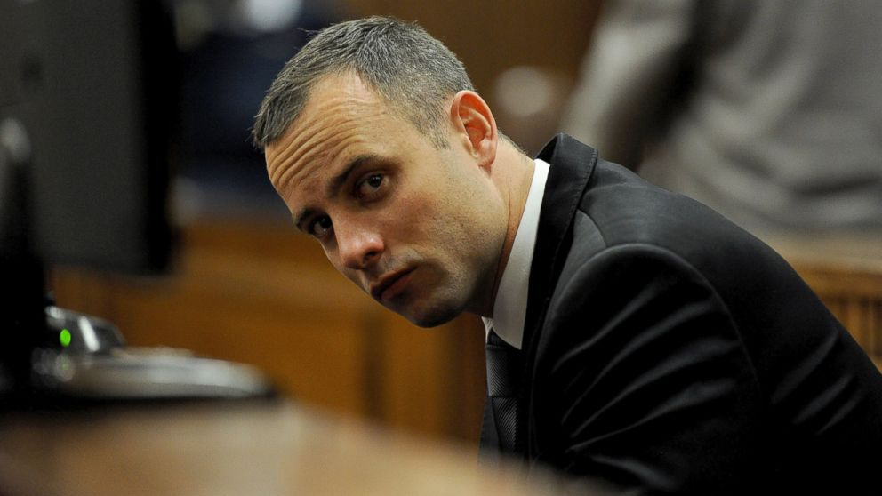 PHOTO: Oscar Pistorius sits in court for his ongoing murder trial in Pretoria, South Africa, May 12, 2014.