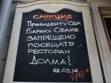 Russians Impose Personal Sanctions on Obama