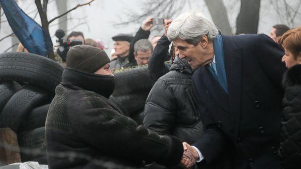 AP Ukraine kerry ml 140304 16x9 608 Kerry Lands in Ukraine With $1 Billion Aid Package