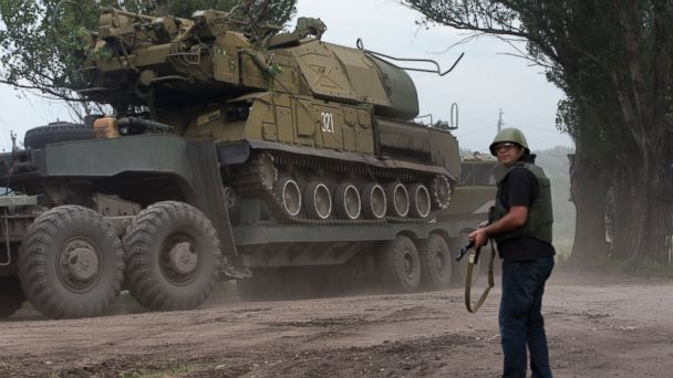 AP Ukraine troops bc 140705 16x9 608 NATO General Warned of Russian Anti Aircraft Training for Separatists
