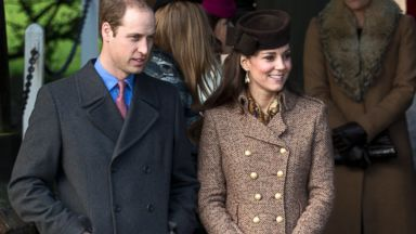 PHOTO: Britains Prince William and his wife Kate Duchess of Cambridge are seen after attending the British royal familys traditional Christmas Day church service at St. Mary Magdalene Church in Sandringham, England, Dec. 25, 2014.