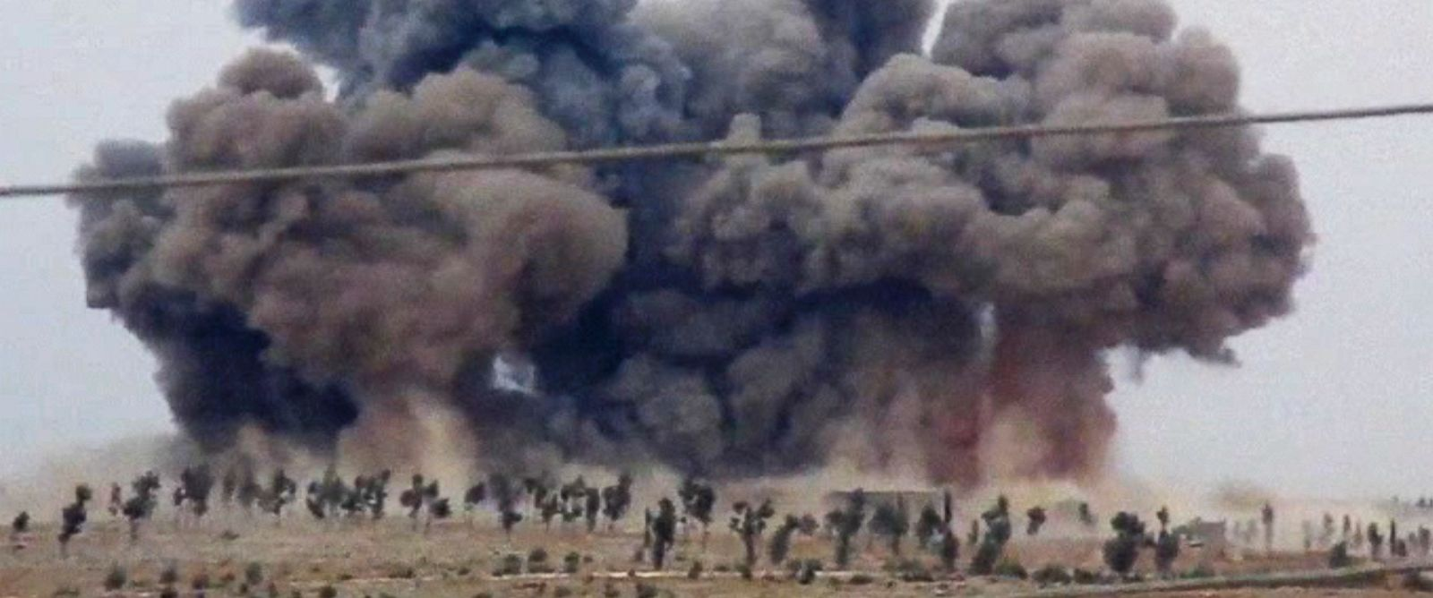 PHOTO: In this image made from video provided by Hadi Al-Abdallah, which has been verified and is consistent with other AP reporting, smoke rises after airstrikes in Kafr Nabel of the Idlib province, western Syria, Oct. 1, 2015.