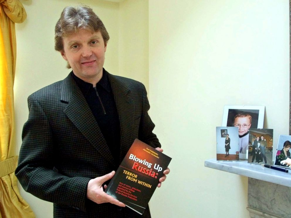 PHOTO:This May 10, 2002 file photo shows Alexander Litvinenko, former KGB spy and author of the book Blowing Up Russia: Terror From Within photographed at his home in London.