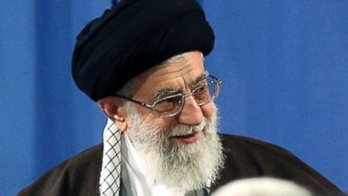 PHOTO: Supreme Leader Ayatollah Ali Khamenei attends a meeting with a group of environmental officials and activists at his residence in Tehran, Iran, March 8, 2015.