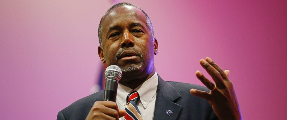 PHOTO: Republican presidential candidate, Dr. Ben Carson speaks at a rally in this Nov. 23, 2015 file photo in Pahrump, Nev.