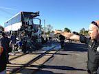 PHOTO: a city bus collided with a Via Rail passenger train