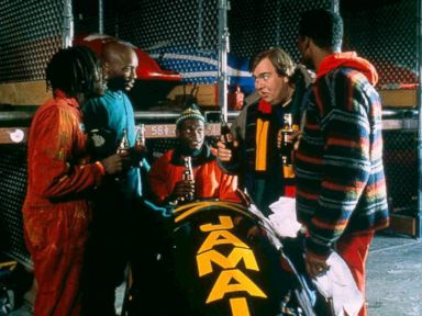 PHOTO: Doug E. Doug, Malik Yoba, Rawle D. Lewis, John Candy and Leon are shown in a scene from Cool Runnings.