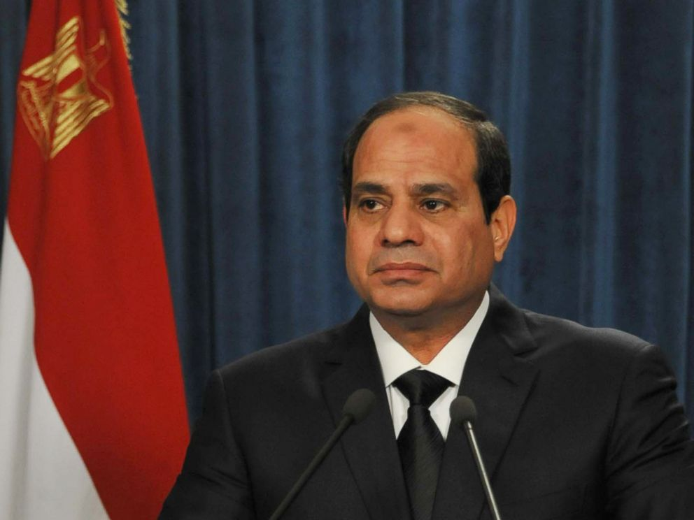 PHOTO: President Abdel-Fattah el-Sissi makes a statement