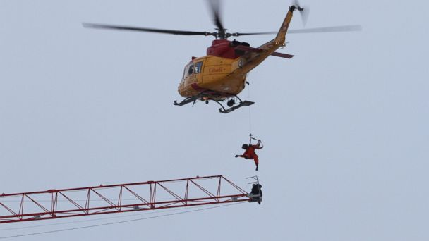 AP crane rescue jtm 131218 16x9 608 Man Rescued From End of Crane in Ontario Blaze