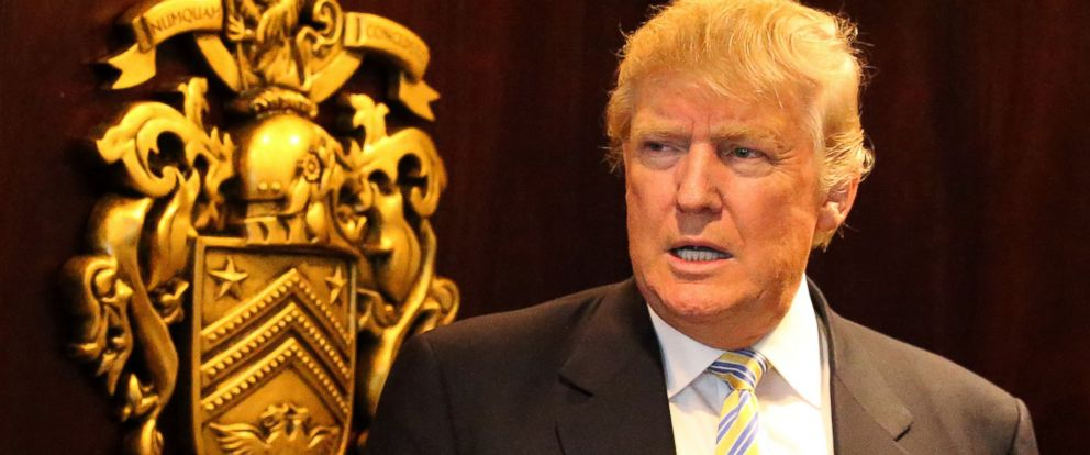 PHOTO:In this file photo, Donald Trump visits Turnberry Golf Club, June 8, 2015 in Turnberry, Scotland