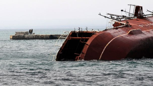 AP donuzlav ship ukraine sk 140306 16x9 608 Crimea Lawmakers Vote to Join Russia, Ship Sunk to Block Port