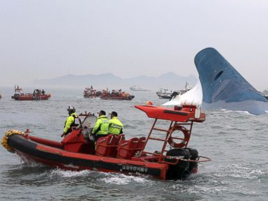 Hundreds Missing After Ferry Sinks off South Korea's Coast