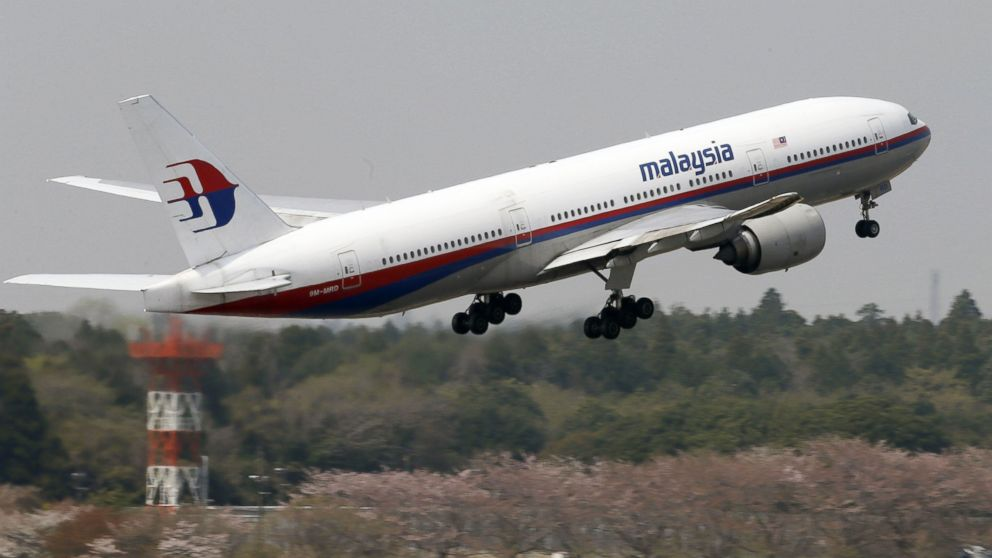 PHOTO: This photo taken in April, 2013, shows a Malaysia Airlines Boeing 777-200ER at Narita Airport in Narita, near