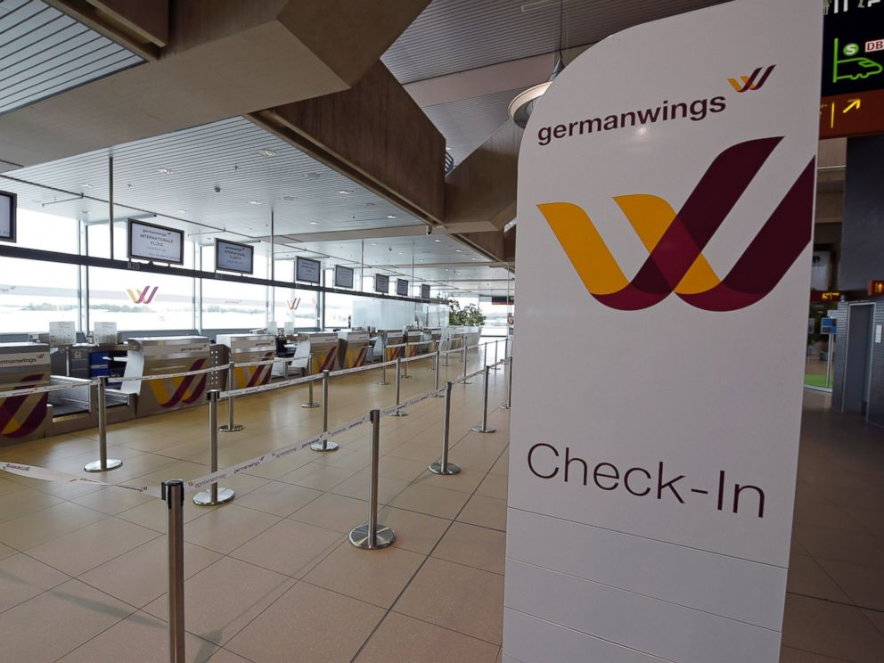 PHOTO: In this Oct. 16, 2014 file photo a counter is seen of German airline Germanwings at the airport in Cologne, Germany.