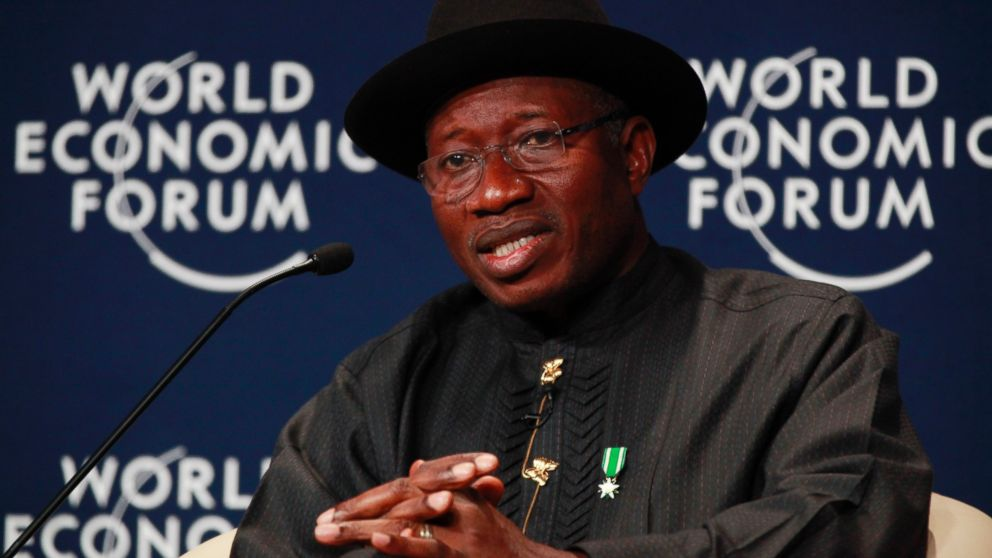 PHOTO: Nigeria President, Goodluck Jonathan, speaks during the World economic forum on Africa in Abuja, Nigeria, Thursday, May 8, 2014.