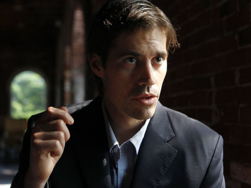PHOTO: Journalist James Foley, of Rochester, N.H., responds to questions during an interview with The Associated Press, in Boston, May 27, 2011, file photo.