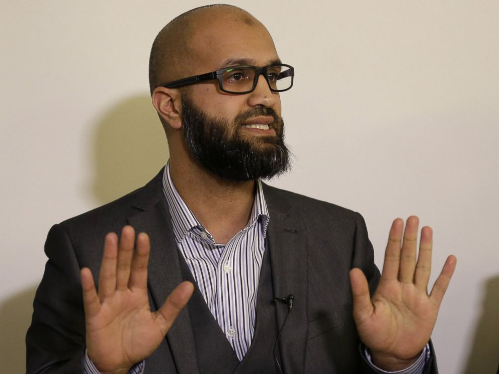 PHOTO: CAGE Research Director Asim Qureshi talks during a press conference held by the CAGE human rights charity in London on Feb. 26, 2015.