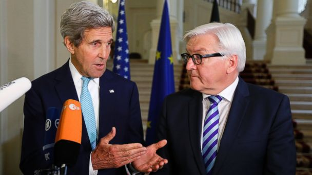AP john kerry frank walter steinmeier jt 140713 16x9 608 On Heels of Spy Controversy, Kerry Meets With German Counterpart in Vienna