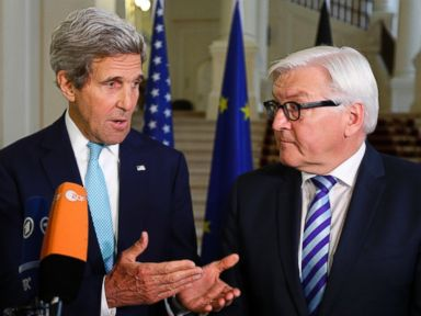 On Heels of Spy Controversy, Kerry Meets With German Counterpart
