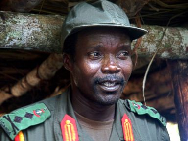 PHOTO: Joseph Kony, leader of the Lords Resistance Army, speaks during a meeting near the Sudan border, July 31, 2006.