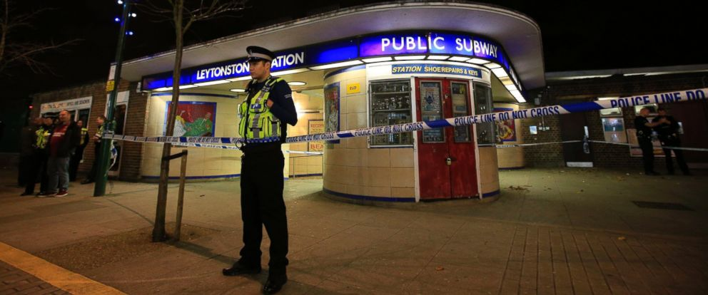 PHOTO: Police cordon off Leytonstone Underground Station in east London following a stabbing incident, Dec. 5, 2015.