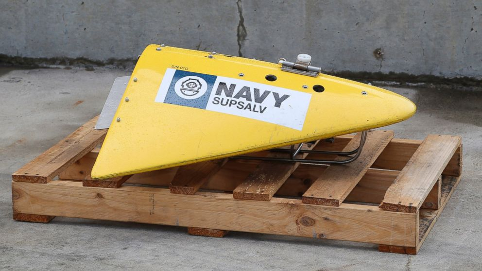 PHOTO: A Towed Pinger Locator (TPL), used to detect black box recorders, sits on the wharf at naval base HMAS Stirling in Perth, Australia on Sunday, March 30, 2014.